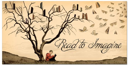 Read to Imagine Laminated Educational Poster. Eco-friendly, English Literature Art Print