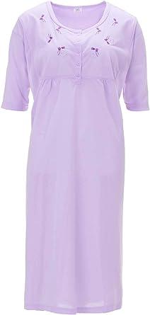 LUCKY Camisa de Dormir Mujer Camisa de Noche Ropa de Dormir Manga Corta: Amazon.es: Ropa y accesorios