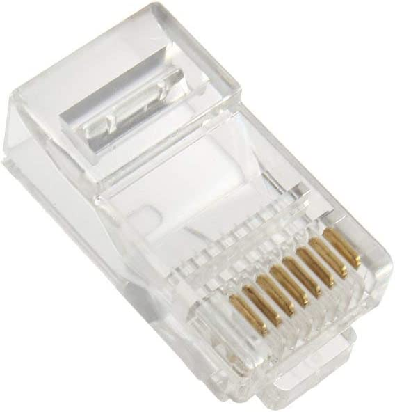 CATVSCOPE RJ45 Connector Cat5e Crimp Modular Connector 50 Pack Ethernet Network Cable Plug Crystal