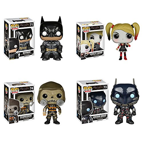 Batman: Arkham Knight Batman, Arkham Knight, Harley Quinn, Scarecrow Pop! Vinyl Figures Set of 4]()