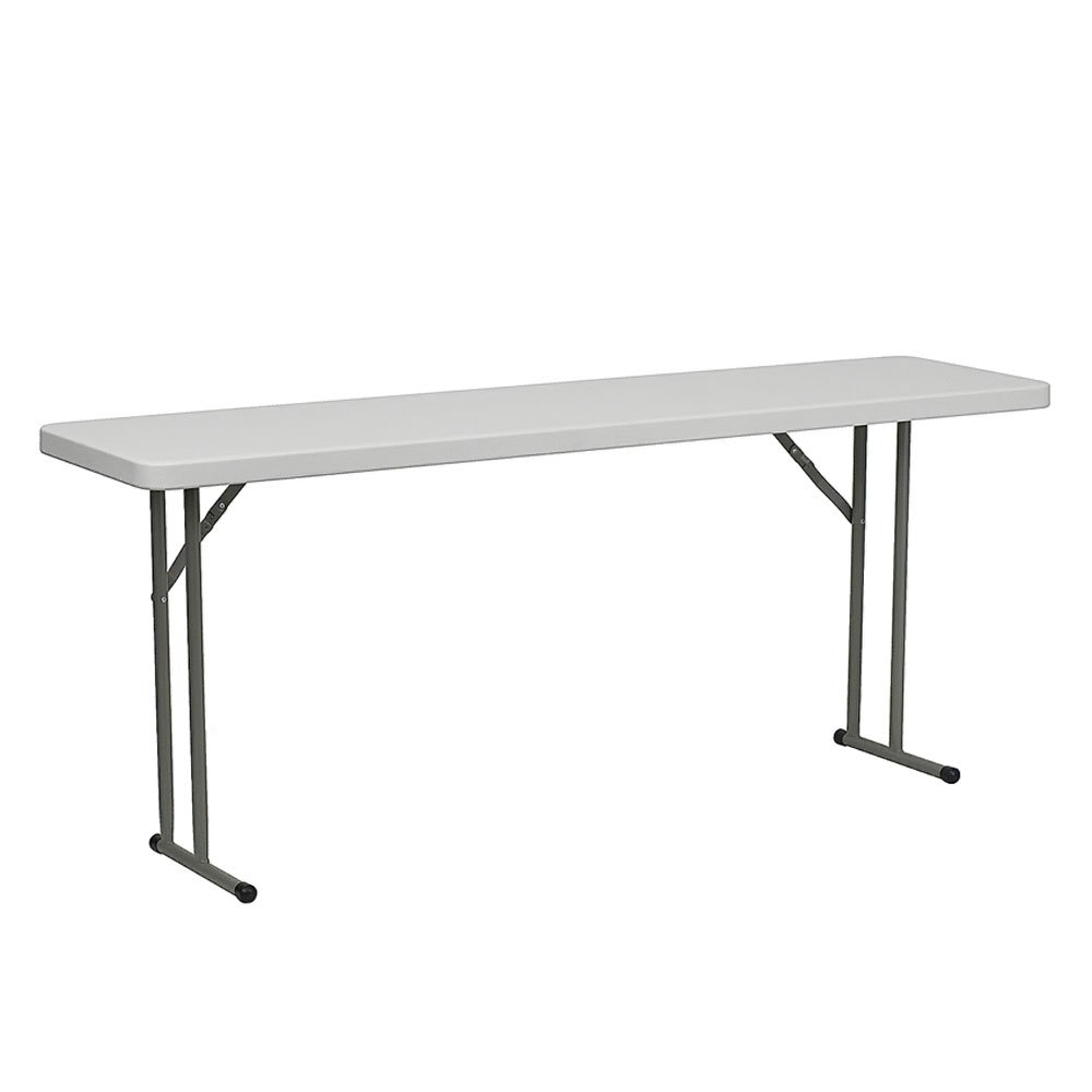 Flash Furniture 18''W x 72''L Granite White Plastic Folding Training Table DAD-YCZ-180-GW-GG