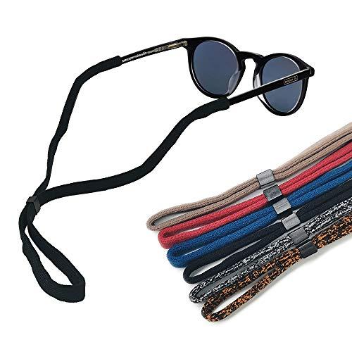 Alamic Adjustable Eyewear Retainer Sunglass Strap 6 Assorted Colors Fit Rope Eyewear Retainer Sport Sunglass Retainer Holder Strap Set of ()