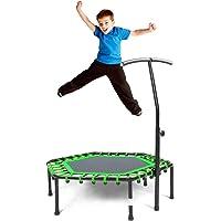 Safly Fun Mini trampolín de Fitness con Mango Ajustable, para Adultos, para Entrenar en el hogar, para Entrenamiento Cardiovascular de 40 Pulgadas, Color Verde
