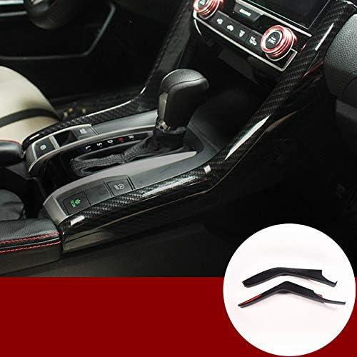 Qii lu 8Pcs Carbon Fiber Texture Door Outside Handle Cover Fit For Honda Civic 2016-2018