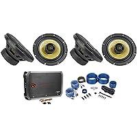 (4) Precision Power P.652 6.5 520 Watt Car Speakers+4-Channel Amplifier+Amp Kit