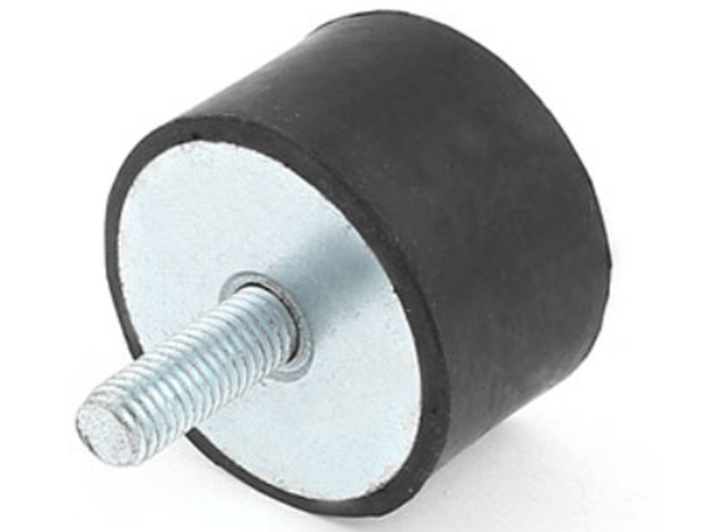 M10 Thread Male Female End Rubber Vibration Mount Isolator 50mm x 30mm by DCS