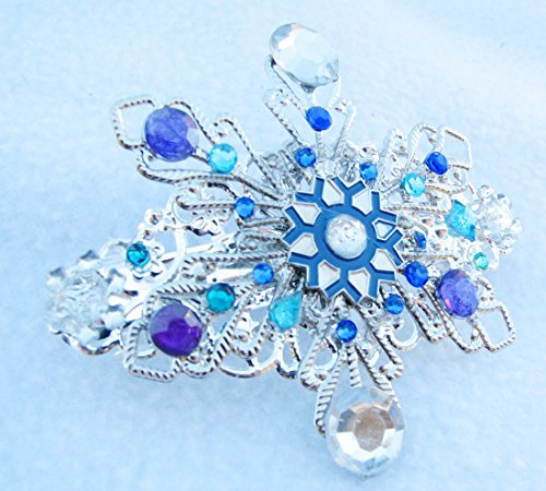 [Frozen Snowflake hair barrette french clip Winter Wedding accessory] (Sale Halloween Costumes)