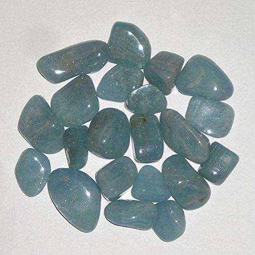 World of Gaia Rocks: Blue Beryl Tumbled Stones 1/4 Lb Bulk Pk sm-med
