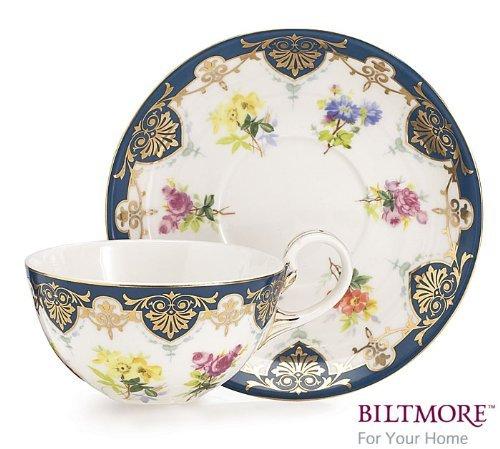 Vanderbilt Porcelain Teacup and Saucer Set From Biltmore House ()