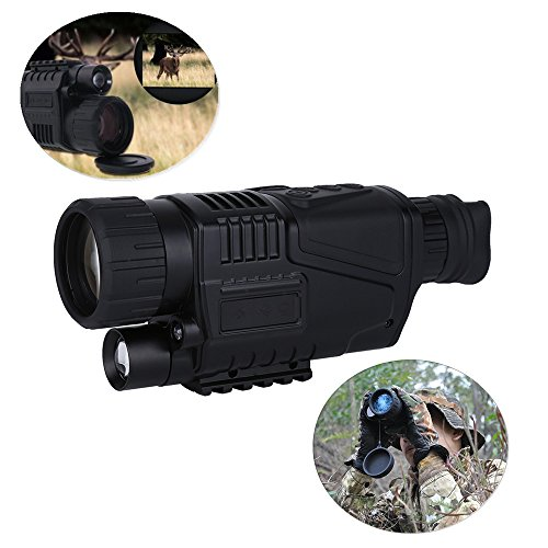Night Vision Monocular - 5x40 Hunting 200m IR Digital Night Vision Telescope Camera With Digital Video Infrared Camera Function For Tactical Optical Monocular Device Hunting Home Security DV by Vbestlife