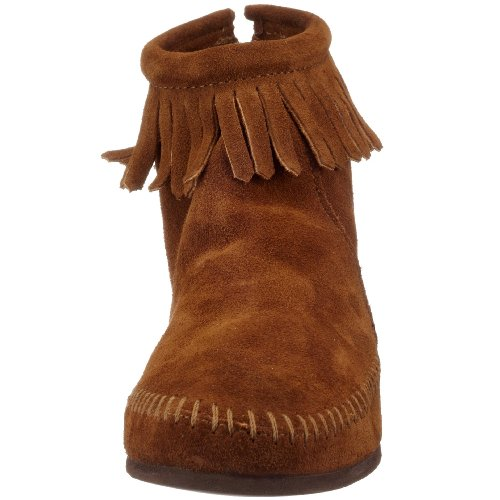 Zip brown Boot Back Marrone Donna Minnetonka Stivali Px75q8Tw