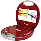 Sylvania SDVD7046-Red 7-Inch Portable DVD Player with Integrated Handle, (Red)
