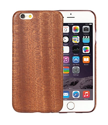 iPhone 6 Plus / 6s Plus Cover Aramidcore Natural Sapele Wood 5.5 Inch Ultra Thin 1mm with Screen - Sapele Natural