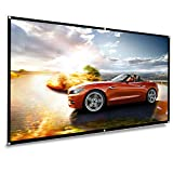 koogoo Projection Projector Screen 70 inch HD 16:9, Portable Foldable Indoor Outdoor Movie Screen,Support Double Sided Projection, Suitable for HDTV/Sports/Movies/Presentations (70 inch)