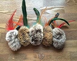 Rabbit Fur & Feathers Handmade Cat Toys Birbit