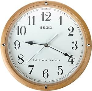 Seiko Qxr303z Radio Controlled Wooden Wall Clock Amazon