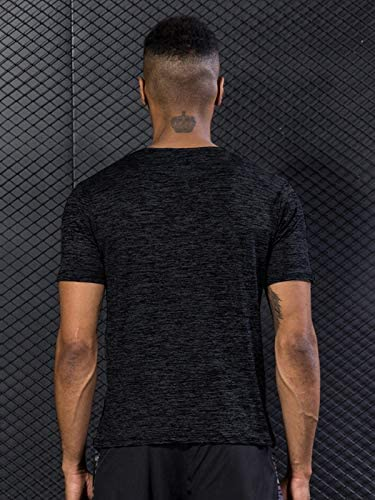 51V4ZfNWCWL. AC 5 Pack Men's Active Quick Dry Crew Neck T Shirts | Athletic Running Gym Workout Short Sleeve Tee Tops Bulk    Product Description
