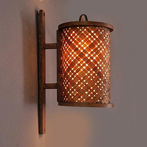 Éclairage intérieur, sud-est asiatique style hôtel bambou applique murale club couloir couloir décoratif applique murale Wall washer, applique, projecteur, projecteur mural (13 * 30) cm