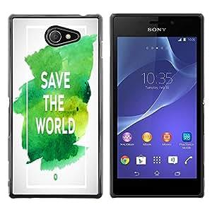 Dragon Case - FOR Sony Xperia M2 - save the world - Caja protectora de pl??stico duro de la cubierta Dise?¡Ào Slim Fit