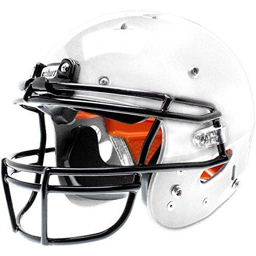 (Schutt Recruit Hybrid Youth Football Helmet with Facemask White XL)