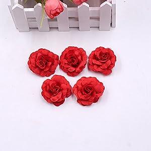 Flower Heads in Bulk Wholesale for Crafts Artificial Silk Mini Rose Fake Flower Head Wedding Home Decoration DIY Party Festival Decor Garland Scrapbook Gift Box Craft 30pcs/lot 4