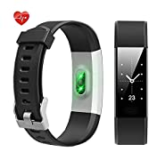 Fitness Tracker NewYouDirect Heart Rate Monitor Pedometer Activity Tracker Smart Watch Smart WristBand with Sleep Monitor Calories/Step Counter Bluetooth 4.0 for Android IOS