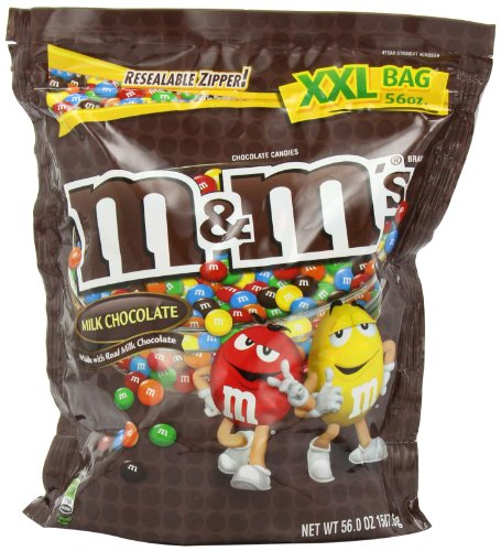 M&M Candy, Milk Chocolate, 56 Ounce ()