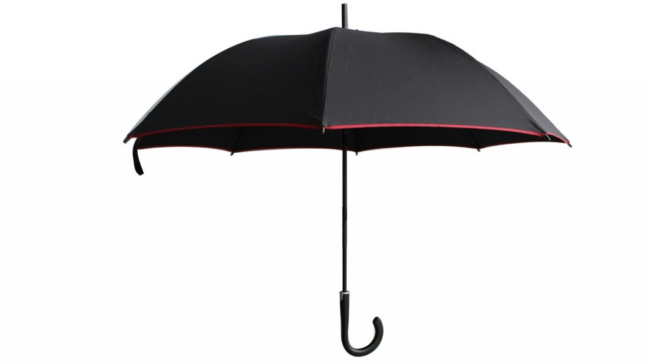 Black Night Splash auto-Open Long Stick Umbrella (Blue)