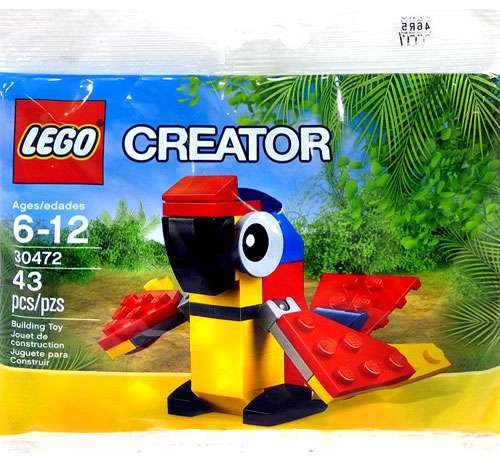 Set promocional exclusivo LEGO Creator Polybag Mini Build Animal - Parrot (30472)