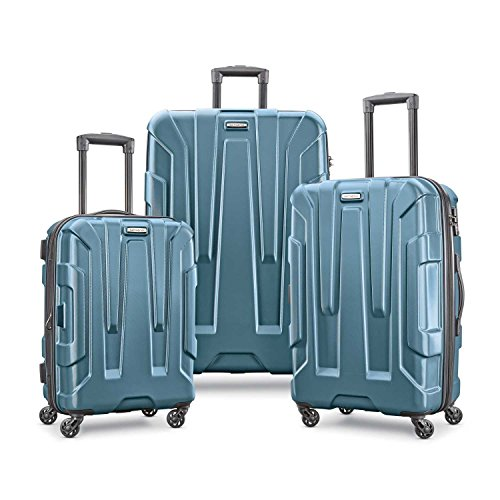 Samsonite Centric 3pc Hardside (20/24/28) Luggage Set, Teal Samsonite Aluminum Locks