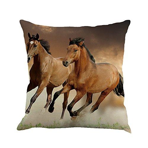 - DORIC Creative Pillow Fashion Cartoon Animal Horse Home Decor Cotton Linen Cushion