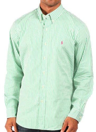 Ralph Lauren - Chemise rayée habillée - coupe classique - vert/blanc - homme