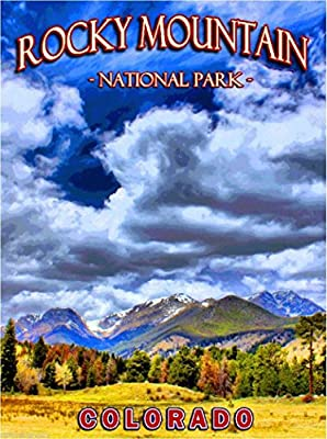 MAGNET Rocky Mountain National Park Colorado United States Travel Advertisement Magnet