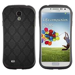 Suave TPU GEL Carcasa Funda Silicona Blando Estuche Caso de protección (para) Samsung Galaxy S4 I9500 / CECELL Phone case / / Black Grey Metal Vintage Wallpaper Pattern /