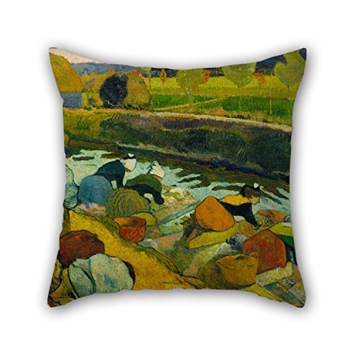 - The Oil Painting Paul Gauguin - Washerwomen Throw Cushion Covers Of 20 X 20 Inches / 50 By 50 Cm Decoration Gift For Relatives Drawing Room Son Home Lounge Office (twice Sides)