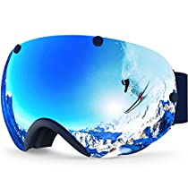 IceHacker XA Ski Snowboard Goggles Anti-fog UV Protection Spherical Dual Lens