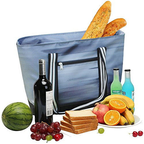 Beach Picnic Tote Bag - YONOVO 25L Insulated Cooler Tote Bag with Large Compartment and Comfortable Handle for Picnic Camping Beach Travel
