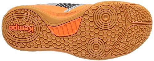 Kempa Thunderstorm - Zapatillas de Deportes de Interior de material sintético hombre - Gris (03 Argent Orange Fluo Noir)