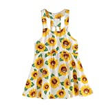 1-7 Years Old Girls,Yamally_9R Toddler Kids Baby Girls Sunflower Print Sleeveless Dress Summer Skirt Outfits Clothes (24M) White