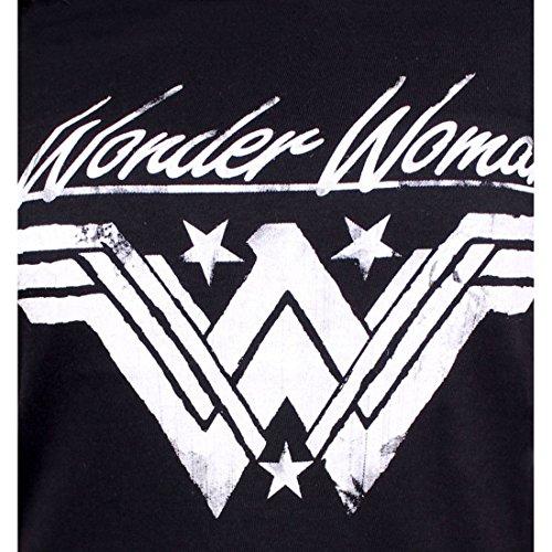 Wonder Woman Damen T-Shirt Logo Baumwolle schwarz - S