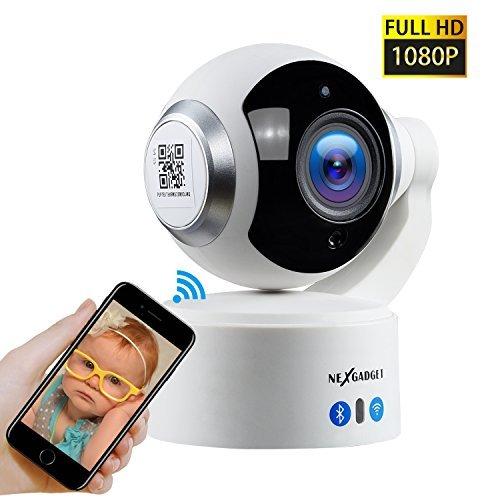 NEXGADGET 1080p HD Wi-Fi Security IP Camera Home Surveillanc
