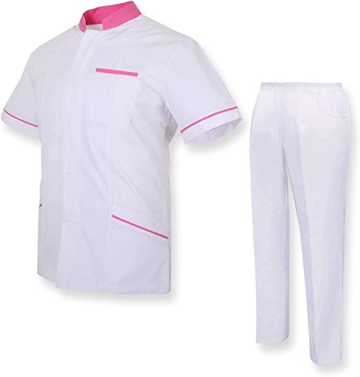 Uniformi Mediche Camice Uniformi sanitarie OSPITALIT/Á Uniforme Medica con Camice e Pantaloni MISEMIYA Ref.7018