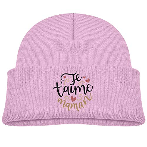 Banana King Je T'Aime Maman Baby Beanie Hat Toddler Winter Warm Knit Woolen Watch Cap for Kids -
