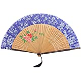 Oriental Vintage Style Folding Fan Hand Fan Foldable Handheld Fan Summer Perfect Gift, U