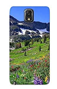 Flexible Tpu Back Case Cover For Galaxy Note 3 - Mountain Spring