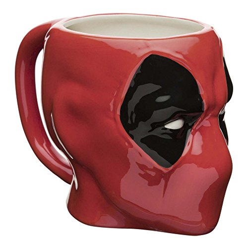 Zak Designs MUNC-1599 Marvel Comics Coffee Mugs, Sculpted, Deadpool Deal (Large Image)