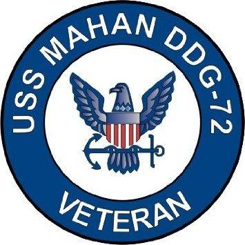 US Navy USS Mahan DDG-72 Ship Veteran Decal Sticker 3.8