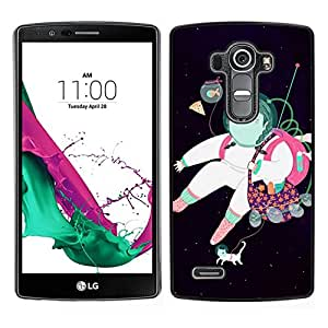 // PHONE CASE GIFT // Duro Estuche protector PC Cáscara Plástico Carcasa Funda Hard Protective Case for LG G4 / Astronaut Abstract Dream Black /