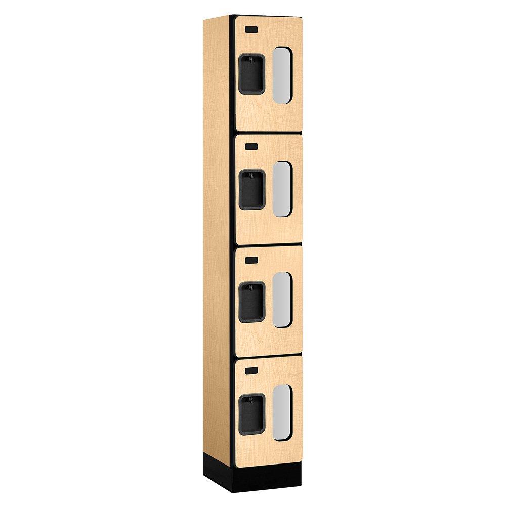 Salsbury Industries Four Tier See Through Designer Wood Locker, Maple, 6' 1'' x 15''