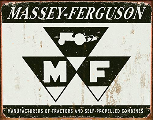 "Desperate Enterprises Massey Ferguson Logo Tin Sign, 16"" W x 12.5"" H from Desperate Enterprises"